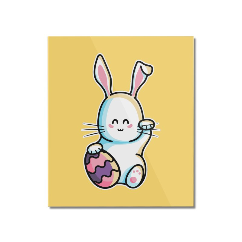 Lucky Rabbit Easter Bunny Home Mounted Acrylic Print by Flaming Imp's Artist Shop