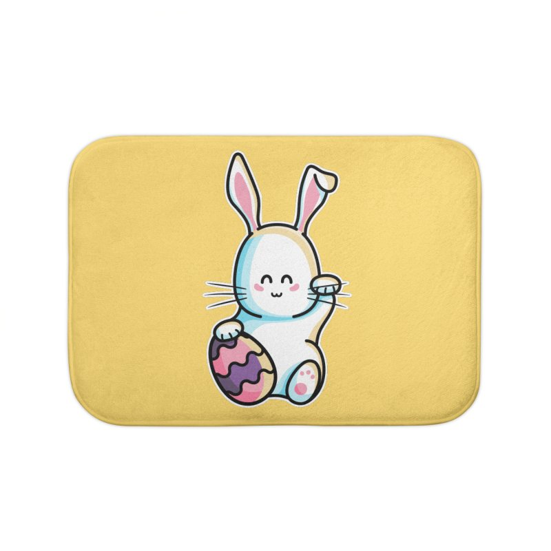 Lucky Rabbit Easter Bunny Home Bath Mat by Flaming Imp's Artist Shop
