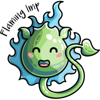 Flaming Imp's Artist Shop Logo