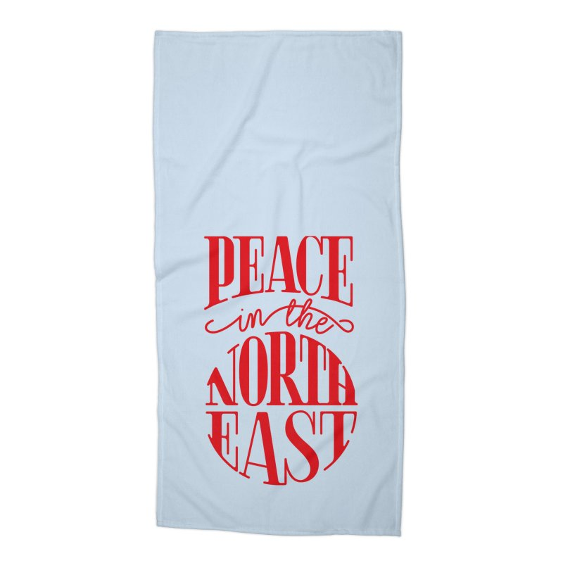 Peace in the Northeast Accessories Beach Towel by Flatirony