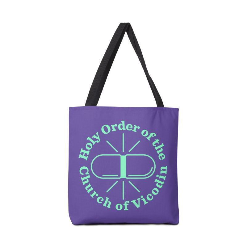 Church of Vicodin Accessories Tote Bag Bag by Flatirony