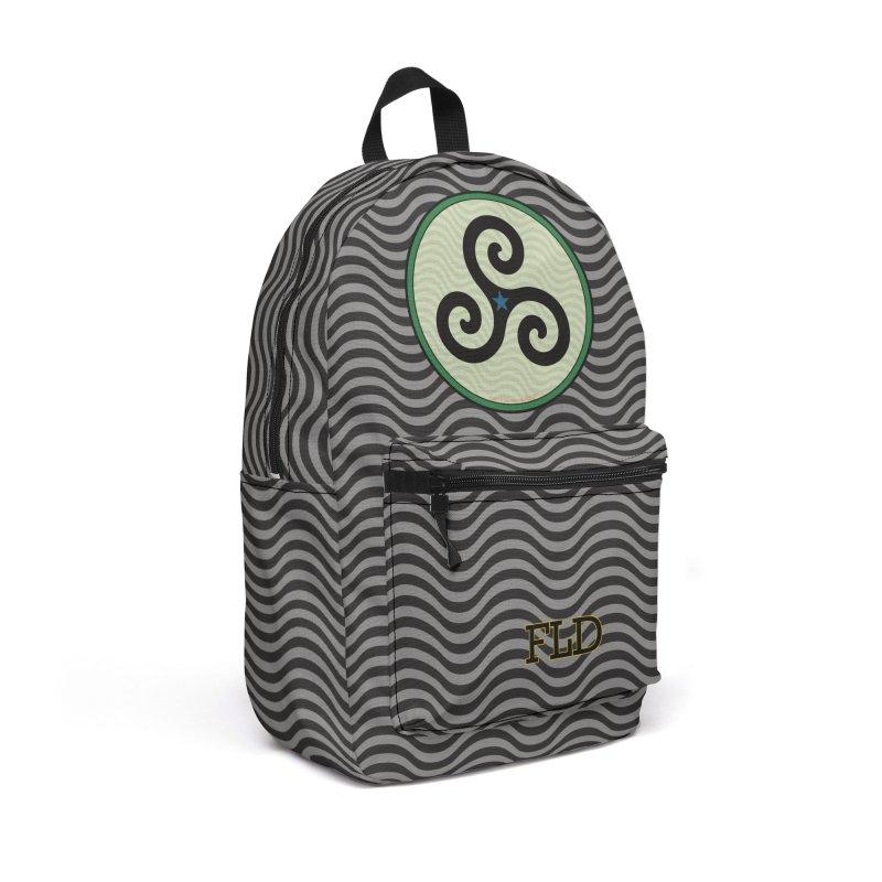 FLD Triskele Emblem Accessories Backpack Bag by falconlara.design shop
