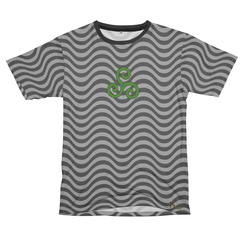 FLD Triskele Emblem Women's Unisex French Terry T-Shirt Cut & Sew by falconlara.design shop