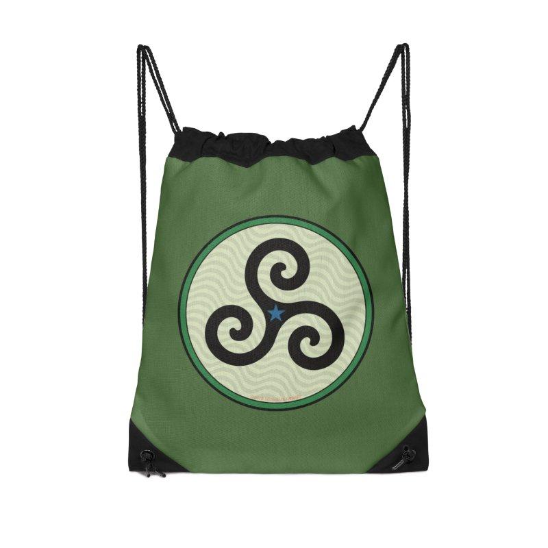 FLD Triskele Emblem Accessories Drawstring Bag Bag by falconlara.design shop