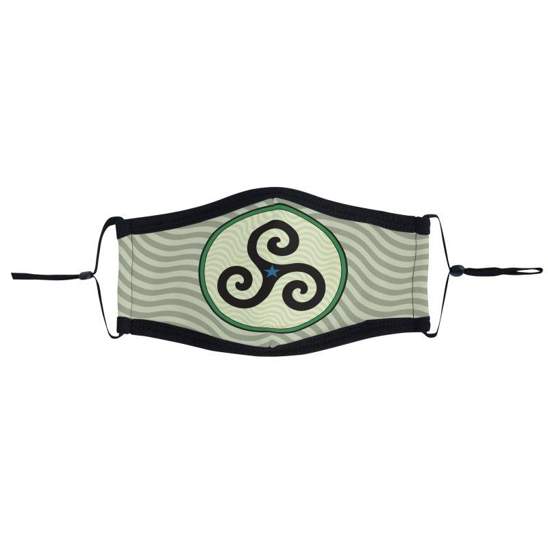 FLD Triskele Emblem Accessories Face Mask by falconlara.design shop
