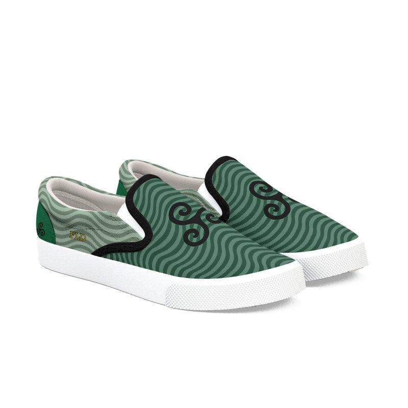 FLD Triskele Emblem Men's Slip-On Shoes by falconlara.design shop