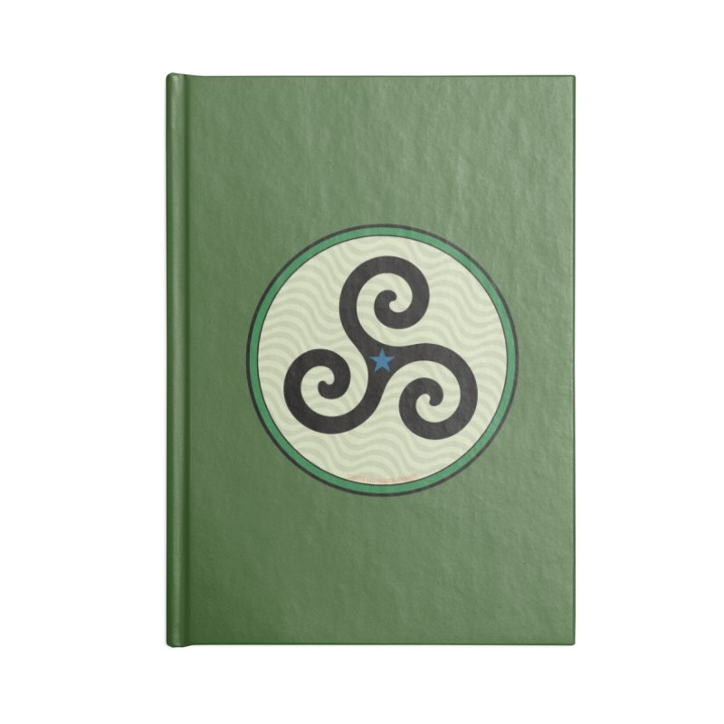 FLD Triskele Emblem Accessories Lined Journal Notebook by falconlara.design shop