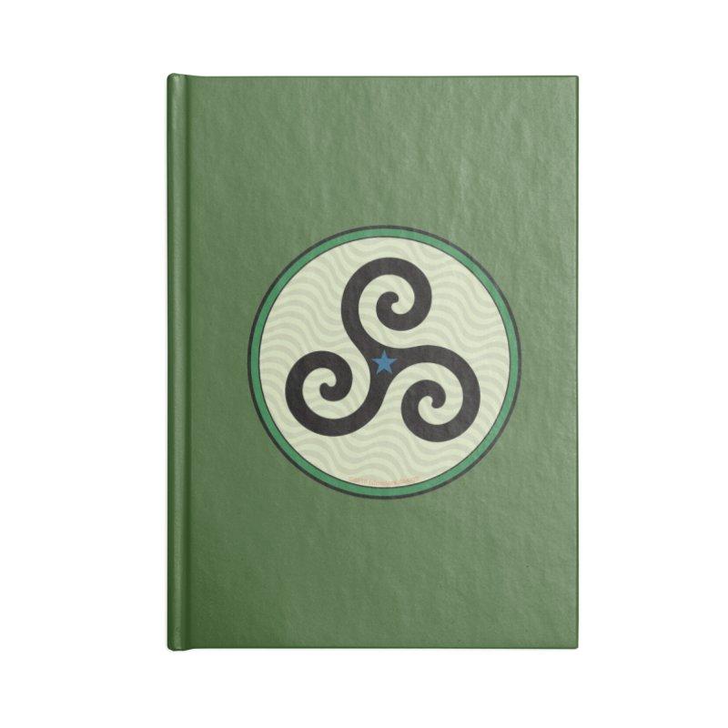 FLD Triskele Emblem Accessories Blank Journal Notebook by falconlara.design shop