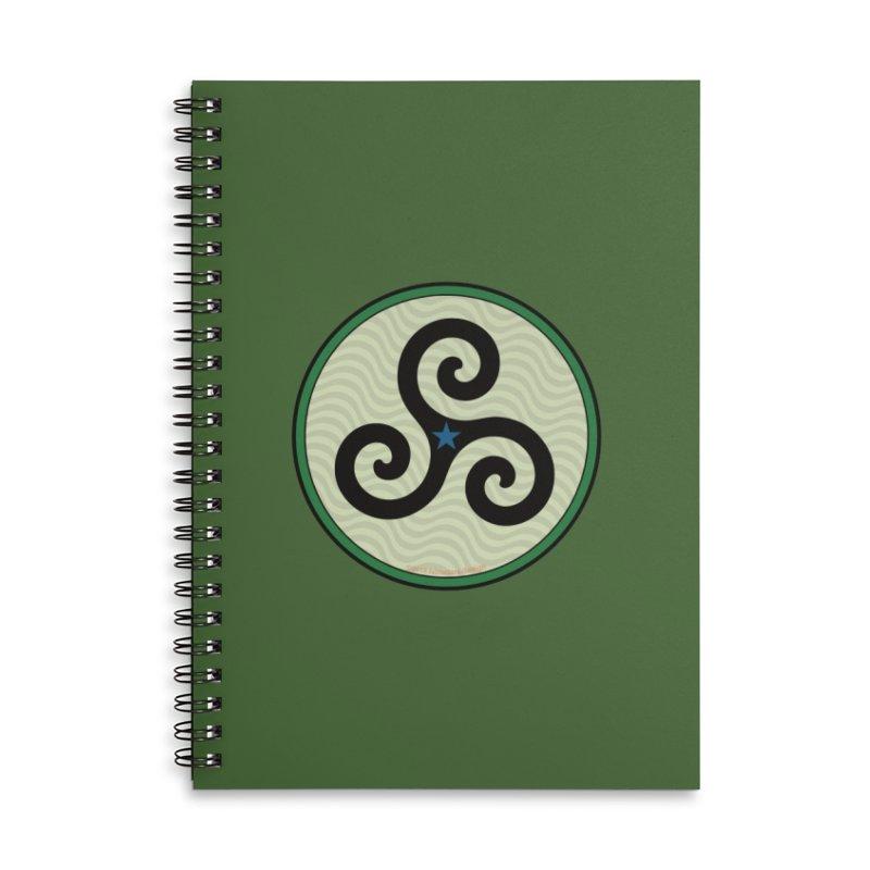 FLD Triskele Emblem Accessories Lined Spiral Notebook by falconlara.design shop