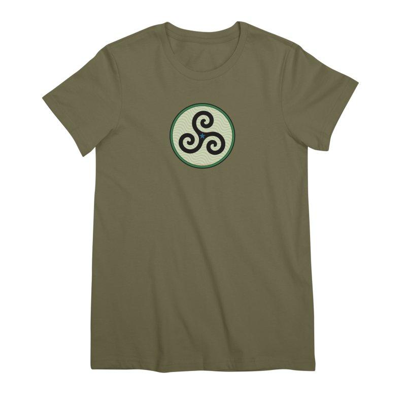 FLD Triskele Emblem Women's Premium T-Shirt by falconlara.design shop