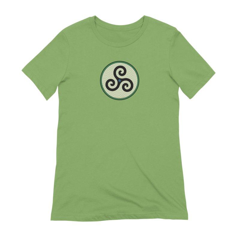 FLD Triskele Emblem Women's Extra Soft T-Shirt by falconlara.design shop