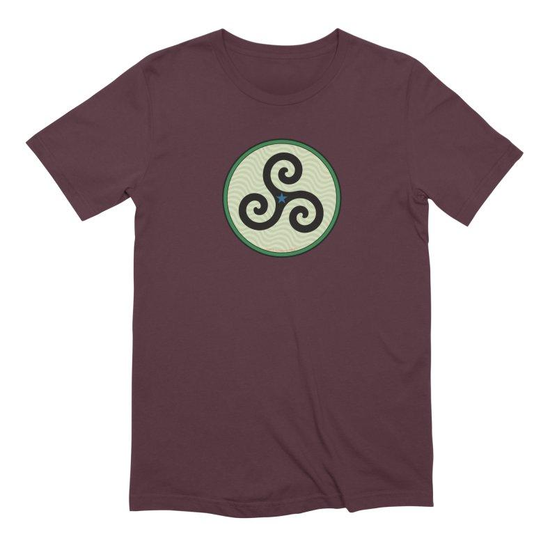 FLD Triskele Emblem Men's Extra Soft T-Shirt by falconlara.design shop