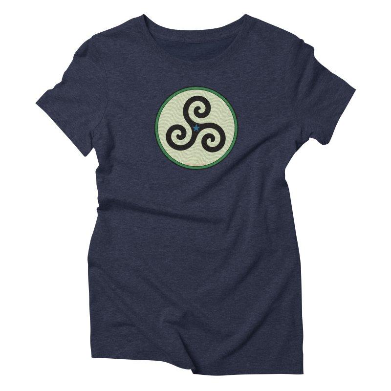 FLD Triskele Emblem Women's Triblend T-Shirt by falconlara.design shop