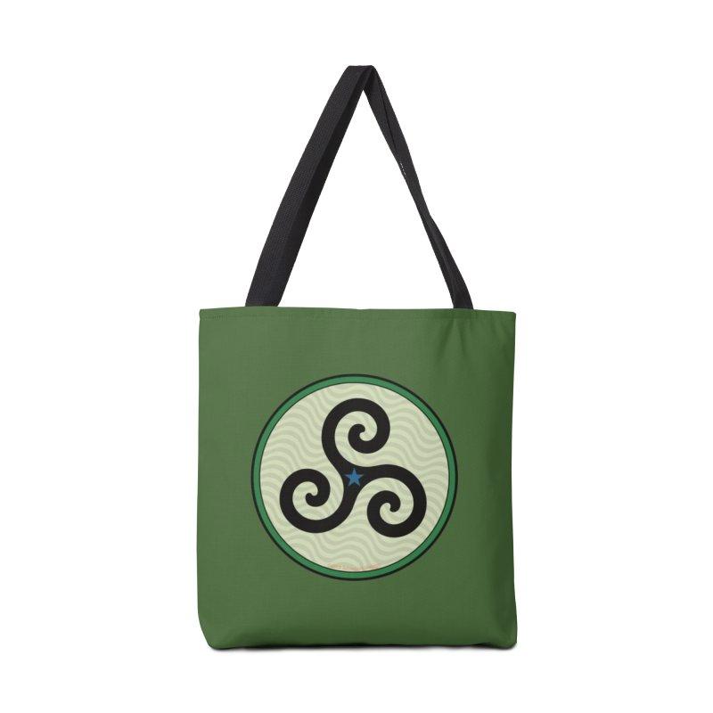 FLD Triskele Emblem Accessories Tote Bag Bag by falconlara.design shop