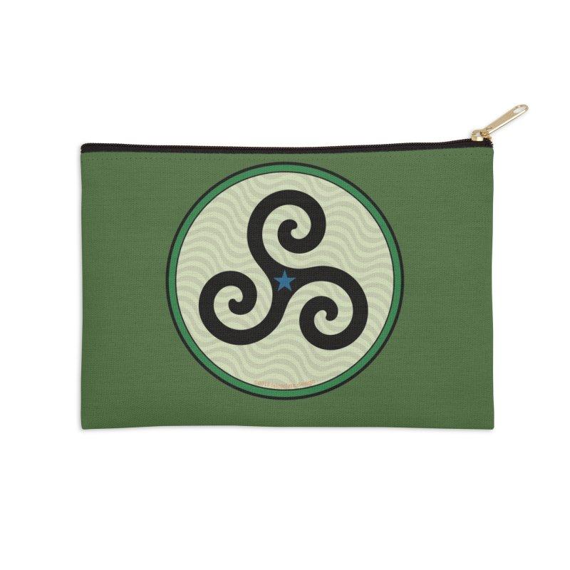 FLD Triskele Emblem Accessories Zip Pouch by falconlara.design shop