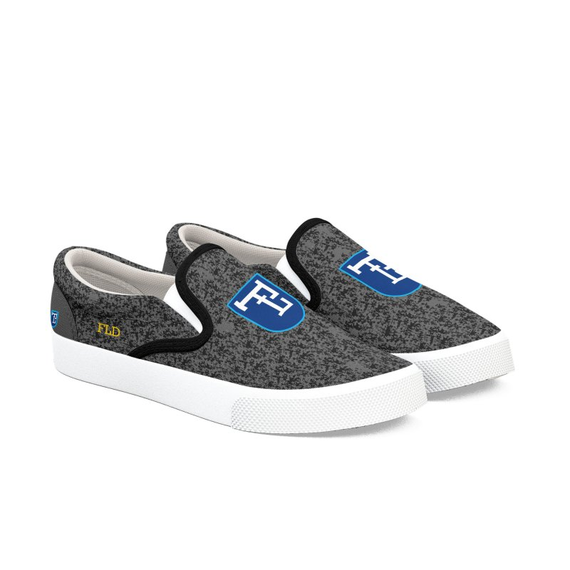 FL Herald Gray Shoes Women's Slip-On Shoes by falconlara.design shop