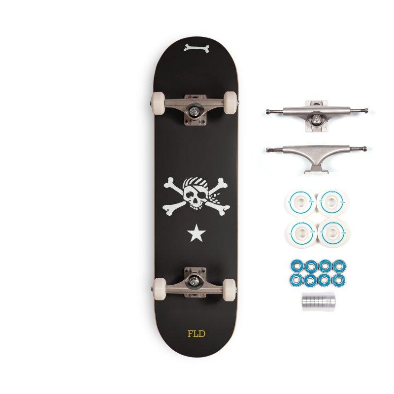 Jolly Roger Skateboard Accessories Complete - Basic Skateboard by falconlara.design shop