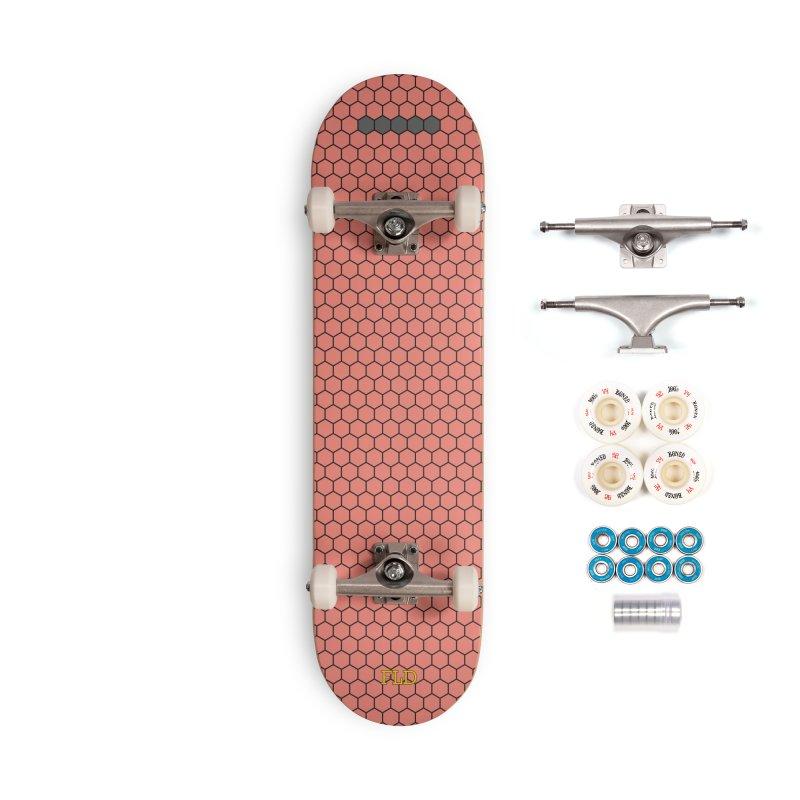 Coral Honeycomb Skateboard Accessories Complete - Premium Skateboard by falconlara.design shop