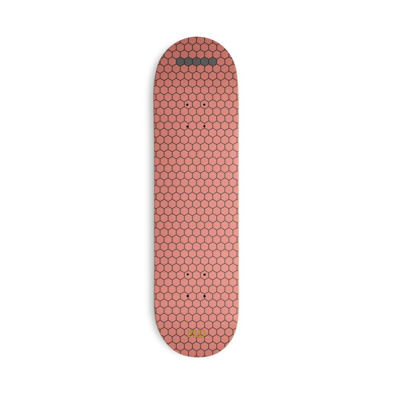 Coral Honeycomb Skateboard Accessories Deck Only Skateboard by falconlara.design shop
