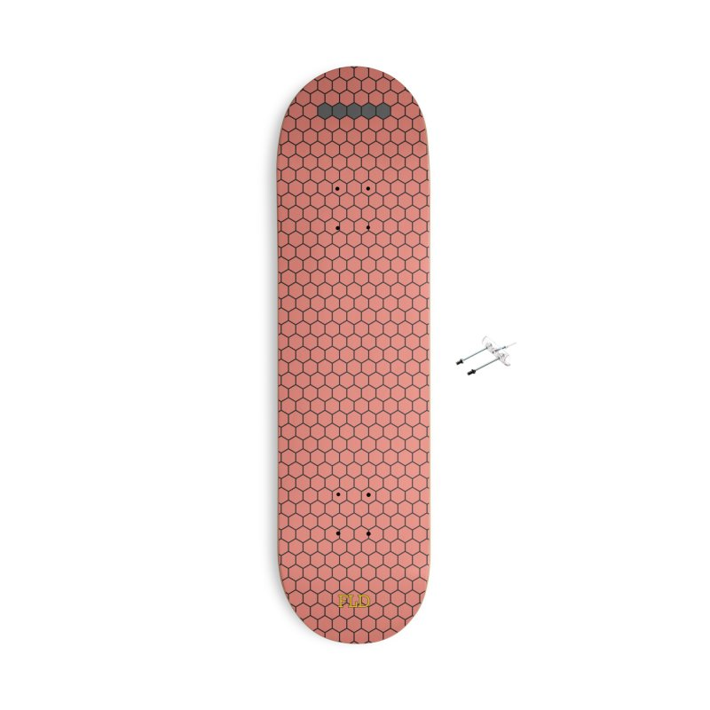 Coral Honeycomb Skateboard Accessories With Hanging Hardware Skateboard by falconlara.design shop