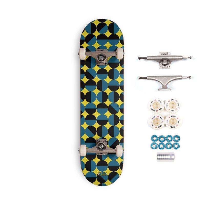 Bauhaus Circles Skateboard Accessories Complete - Premium Skateboard by falconlara.design shop