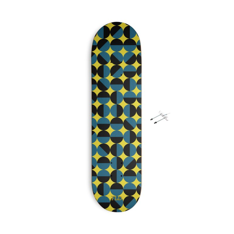Bauhaus Circles Skateboard Accessories With Hanging Hardware Skateboard by falconlara.design shop