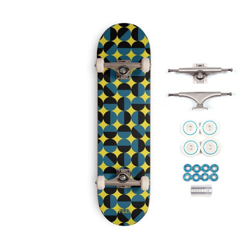Bauhaus Circles Skateboard Accessories Complete - Basic Skateboard by falconlara.design shop