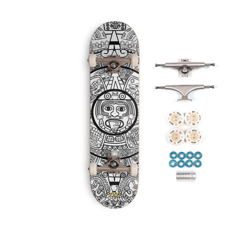 Calendario Azteca Skateboard Accessories Complete - Premium Skateboard by falconlara.design shop