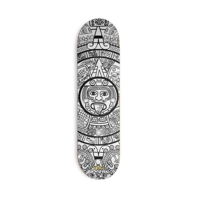 Calendario Azteca Skateboard Accessories Deck Only Skateboard by falconlara.design shop
