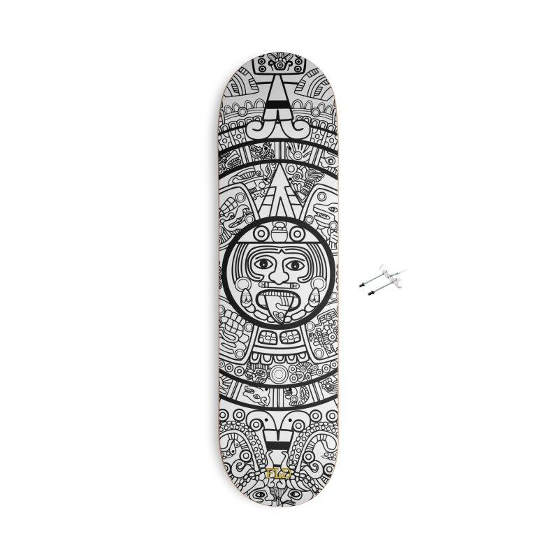 Calendario Azteca Skateboard Accessories With Hanging Hardware Skateboard by falconlara.design shop