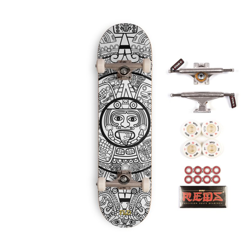 Calendario Azteca Skateboard Accessories Complete - Pro Skateboard by falconlara.design shop