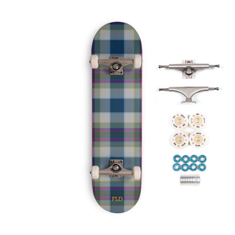 FL Tartan Skateboard Accessories Complete - Premium Skateboard by falconlara.design shop