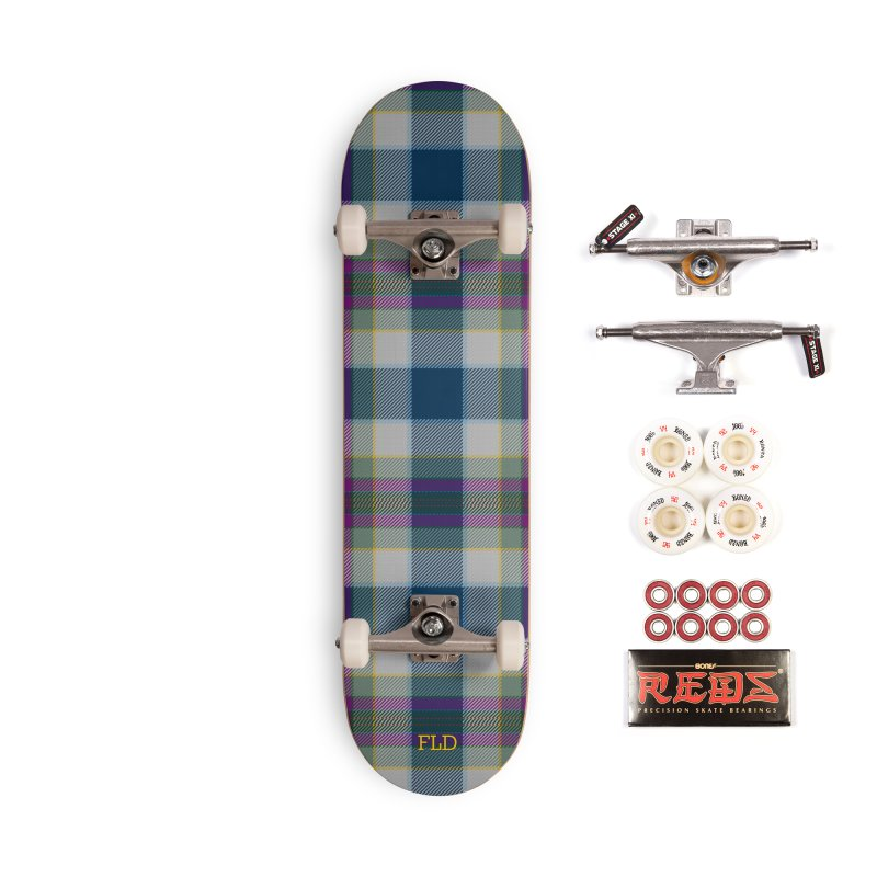 FL Tartan Skateboard Accessories Complete - Pro Skateboard by falconlara.design shop