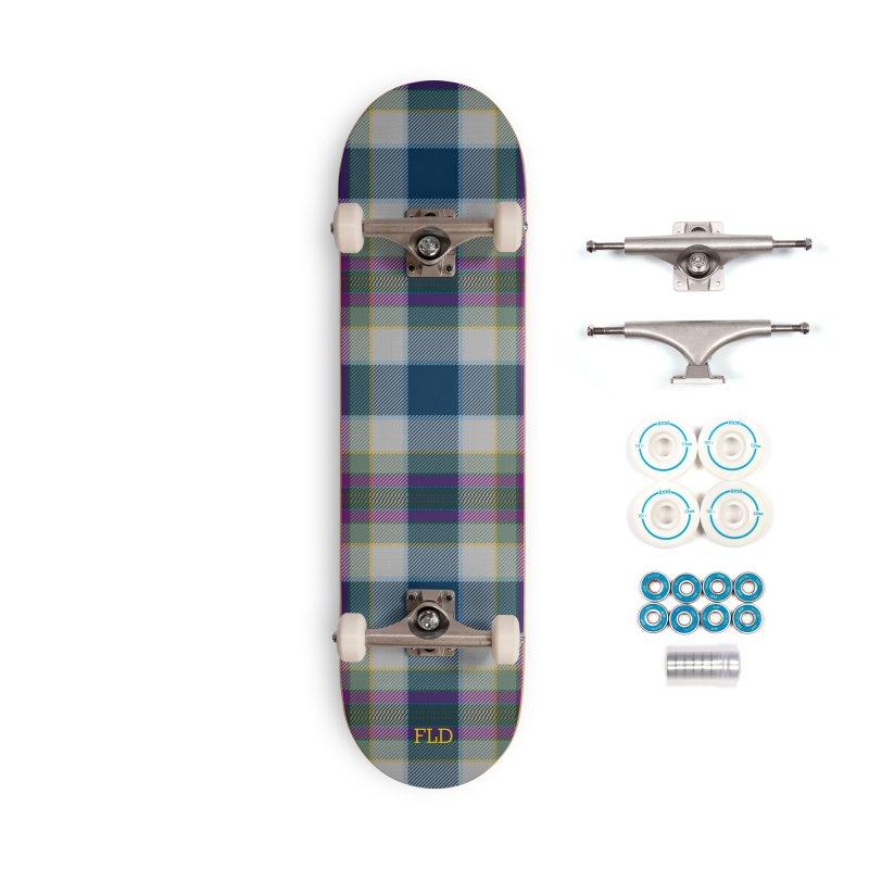 FL Tartan Skateboard Accessories Complete - Basic Skateboard by falconlara.design shop