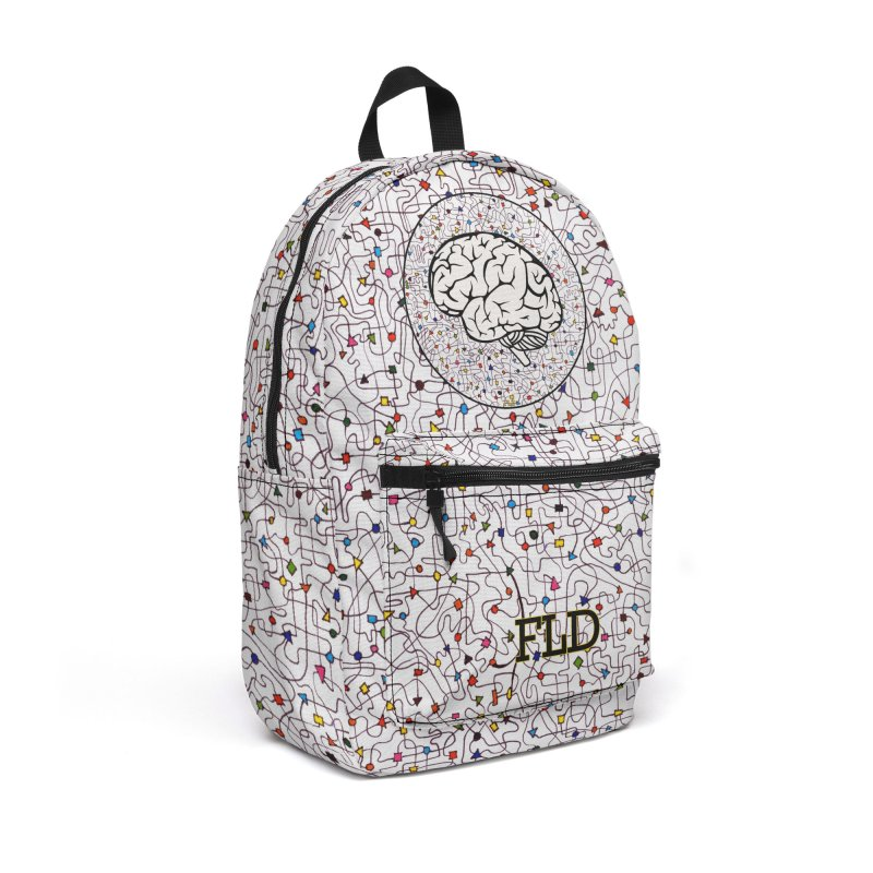 The Brain Circle Accessories Backpack Bag by falconlara.design shop