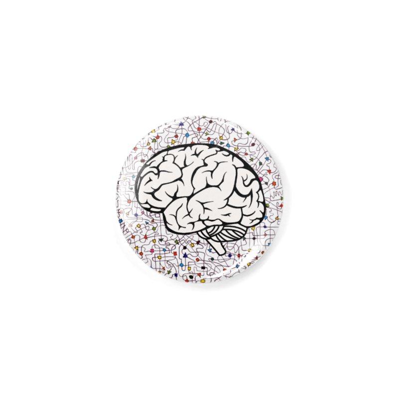 The Brain Circle Accessories Button by falconlara.design shop