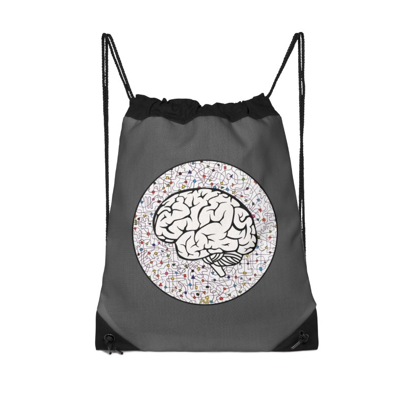 The Brain Circle Accessories Drawstring Bag Bag by falconlara.design shop