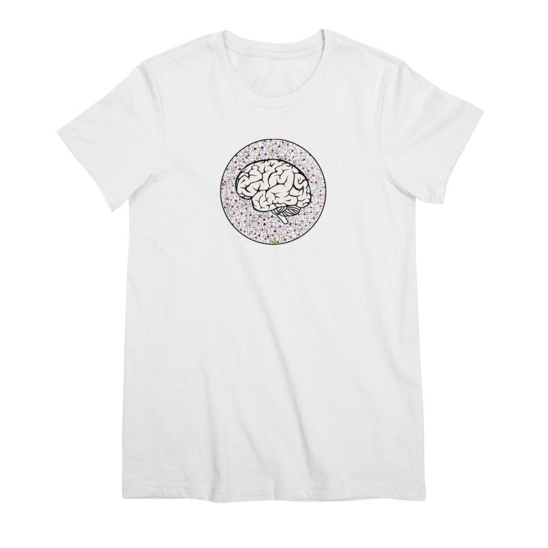 The Brain Circle Women's Premium T-Shirt by falconlara.design shop