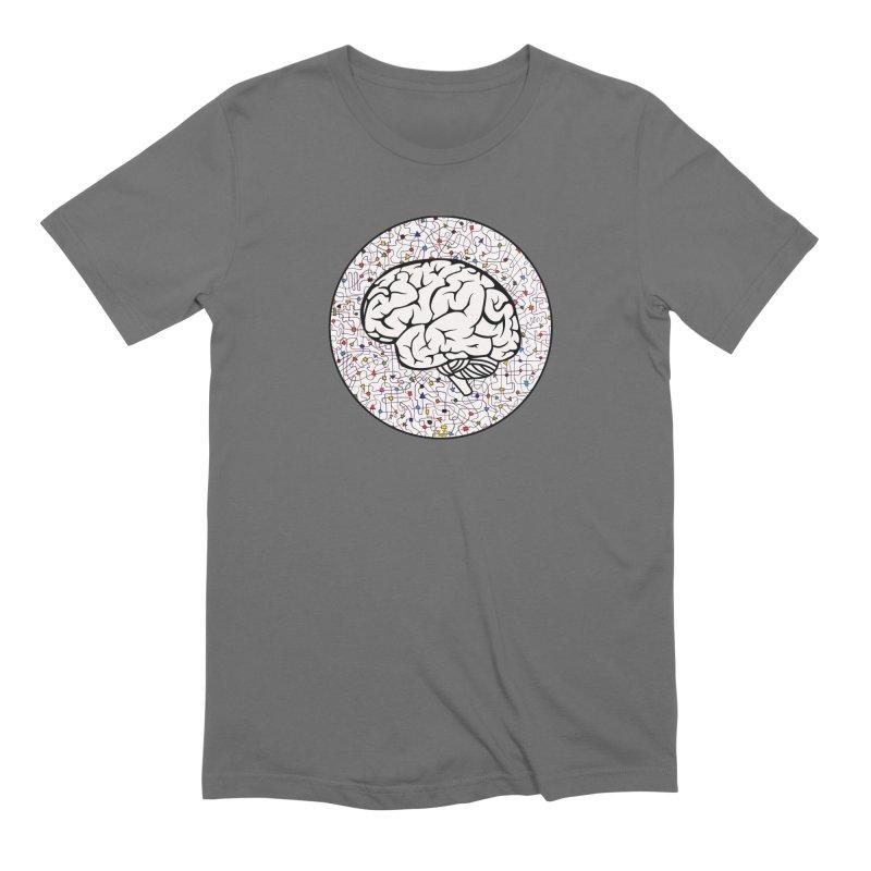 The Brain Circle Men's Extra Soft T-Shirt by falconlara.design shop