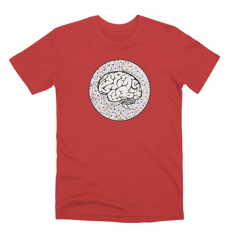 The Brain Circle Men's Premium T-Shirt by falconlara.design shop