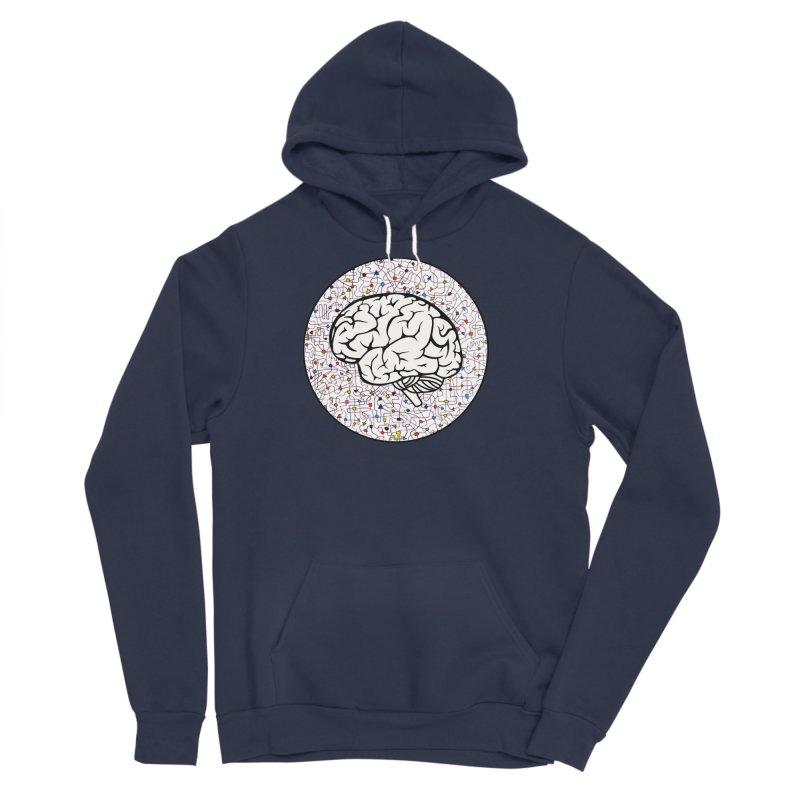The Brain Circle Men's Sponge Fleece Pullover Hoody by falconlara.design shop