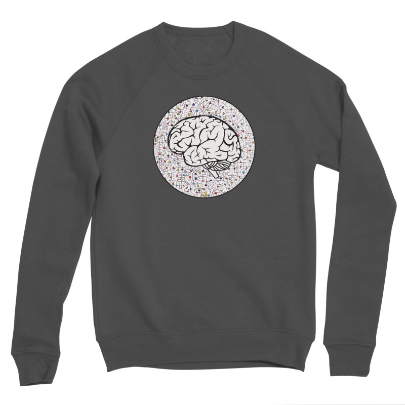 The Brain Circle Men's Sponge Fleece Sweatshirt by falconlara.design shop