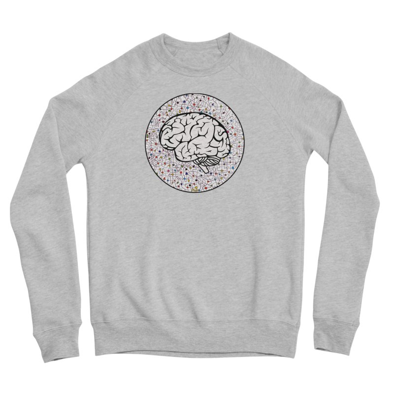 The Brain Circle Women's Sponge Fleece Sweatshirt by falconlara.design shop