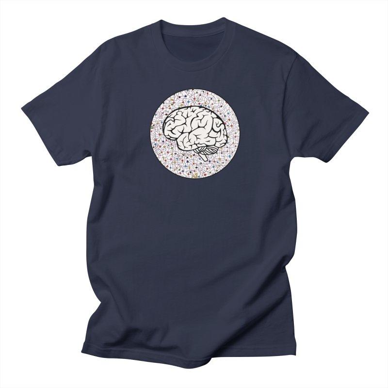 The Brain Circle Men's Regular T-Shirt by falconlara.design shop
