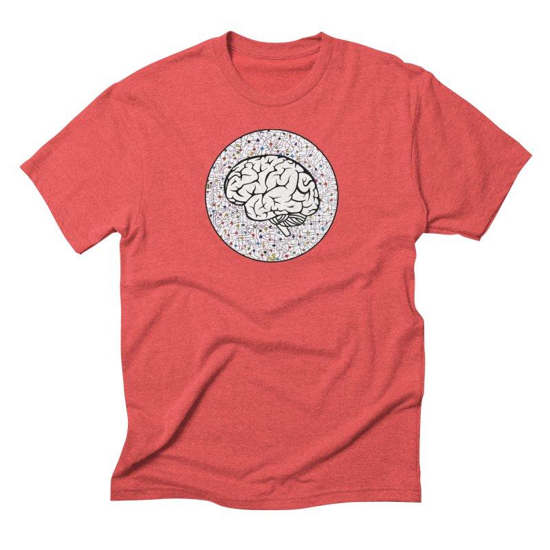 The Brain Circle Men's Triblend T-Shirt by falconlara.design shop