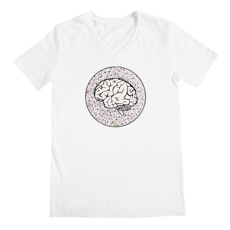 The Brain Circle Men's Regular V-Neck by falconlara.design shop