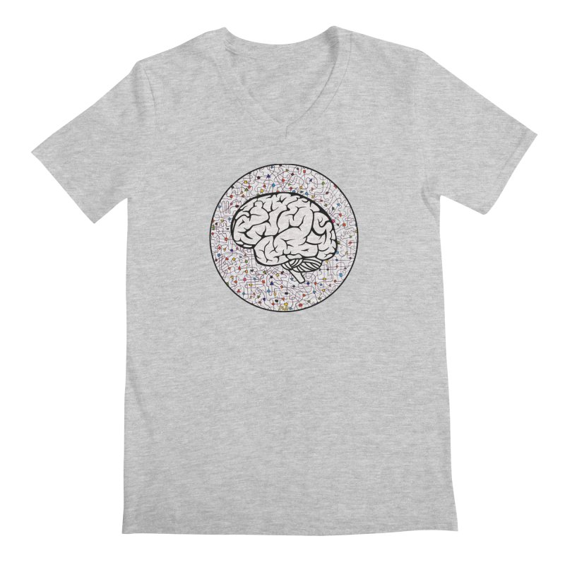 The Brain Circle Men's Regular V-Neck by falconlara.design shop