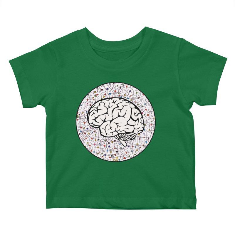 The Brain Circle Kids Baby T-Shirt by falconlara.design shop