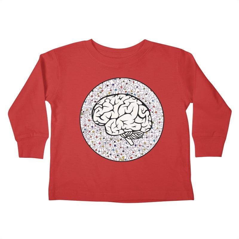 The Brain Circle Kids Toddler Longsleeve T-Shirt by falconlara.design shop
