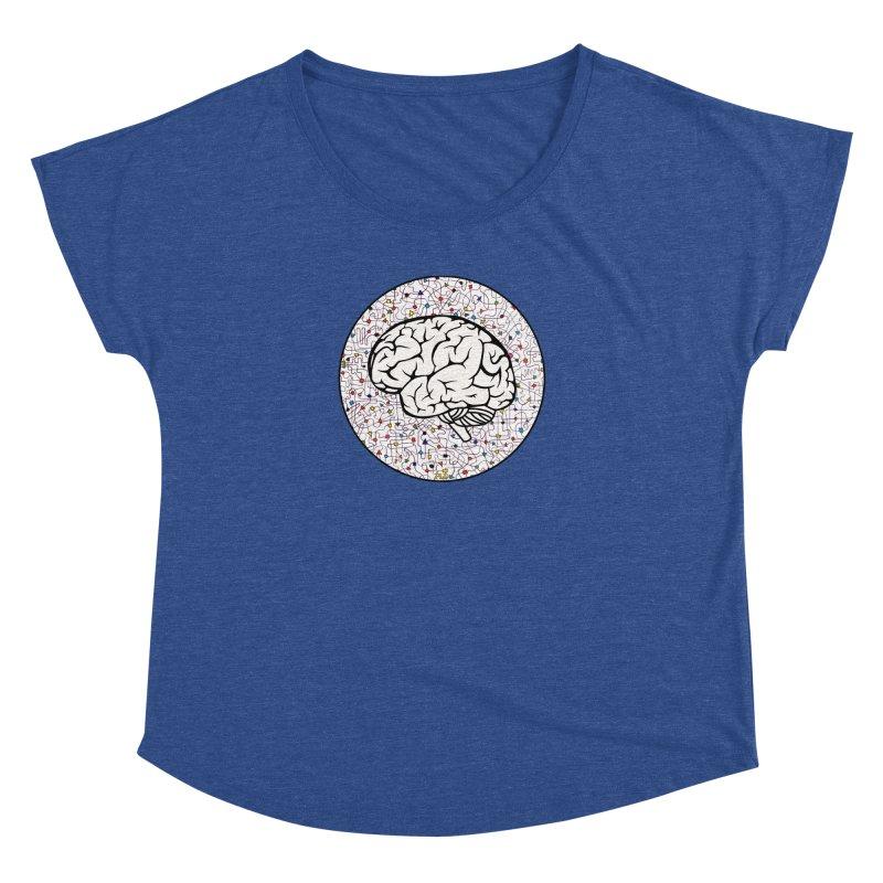 The Brain Circle Women's Dolman Scoop Neck by falconlara.design shop